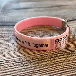 Jewelry - 15 Breast cancer awareness pink bracelets